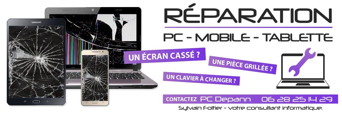 Réparation PC, mobile, tablette