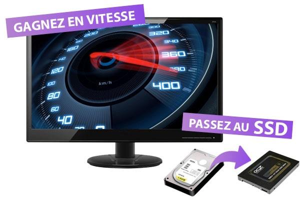 Un PC optimisé avec un SSD